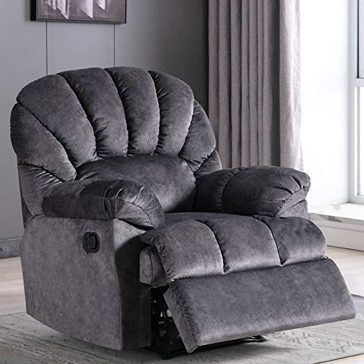 Amazon.com: Fabric Recliner Chair, Overstuffed Pull Reclining .