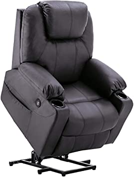 Amazon.com: Mcombo Electric Power Lift Recliner Chair Sofa with .
