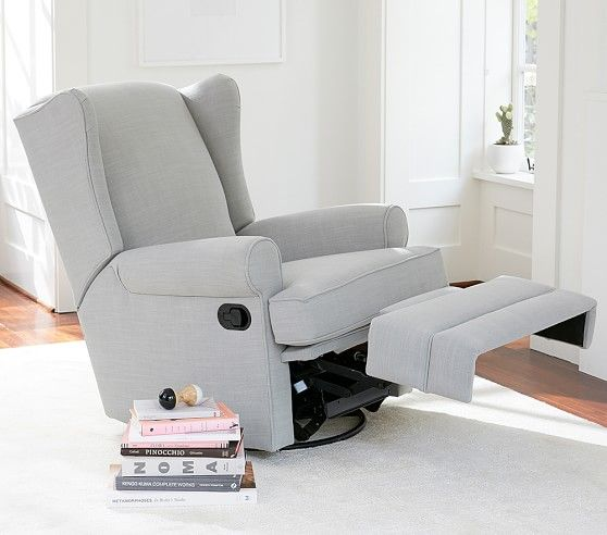 Wingback Rocker & Recliner | Pottery Barn Kids (With images .