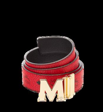 "130 cm / 51 in Claus M Reversible Belt 1.75"" in Visetos Ruby Red ."
