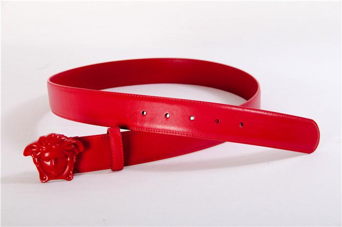 Versace Medusa Head Mens Fashion Red Belt,Bel