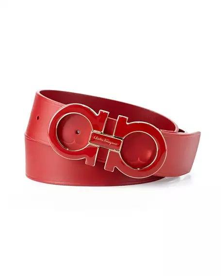 Red Salvatore ferragamo belt | Cheap designer bel