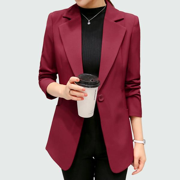 Wine Red Black Women Blazers And Jackets 2017 New Spring Autumn .