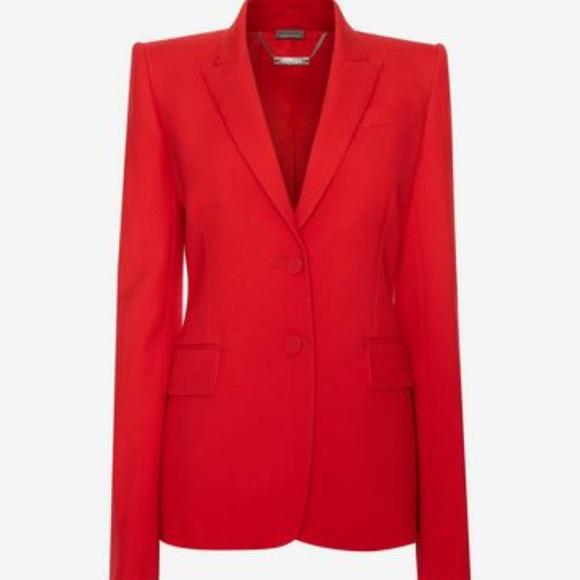Alexander McQueen Jackets & Coats | Red Blazer | Poshma
