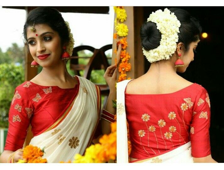 Blouse designs | Kerala saree blouse designs, Pattu saree blouse .