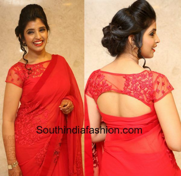 Red Blouse Designs