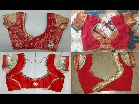 Top 10 Red Colour Patch Work Blouse Designs For Bridal - YouTu
