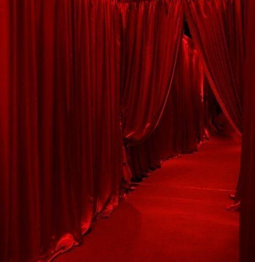 Red velvet curtain | Theater aesthetic | Stage mood | Red velvet .