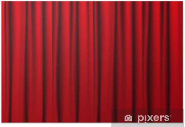 Red curtains Poster • Pixers® - We live to chan
