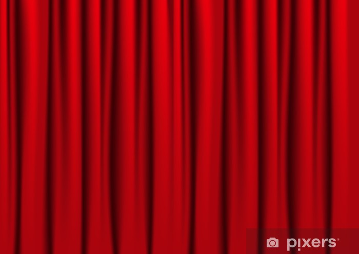 Red curtains Wall Mural • Pixers® - We live to chan