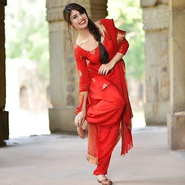 Pretty Red Patiyala Salwar Suit Design To Try Today | HappyShap