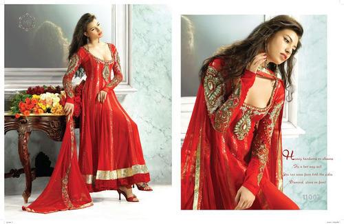 Designer Red Salwar Kameez, Salwar, सलवार कमीज़ .