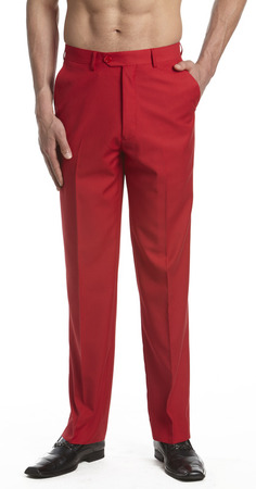 Men's Red Dress Pants   Concitor Mens Red Trouse