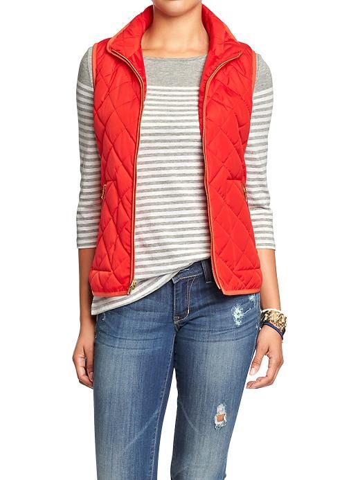 Women's Quilted Zip-Front Vests Product Image (With images .