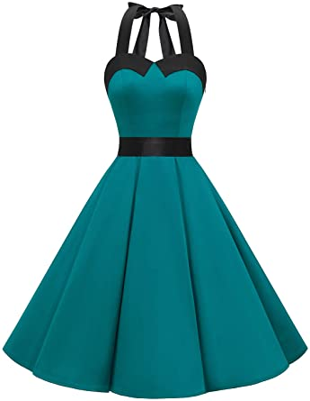 Amazon.com: Dressystar Vintage Polka Dot Retro Cocktail Prom .