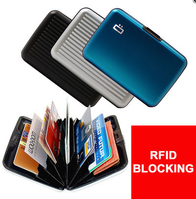 Metal Card Holder Wallet With Rfid Blocking Technology .