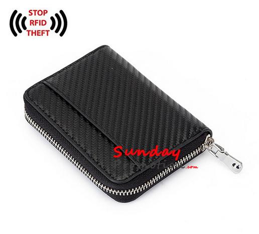 Custom Wallets Carbon Fiber Card Holder RFID Blocking Wall