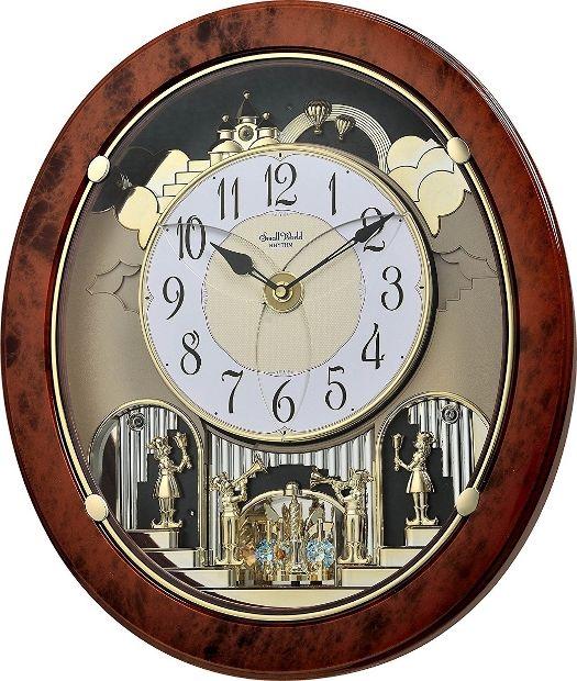 New!) WOODGRAIN STARS Magic Musical Motion Clock Rhythm Clocks .