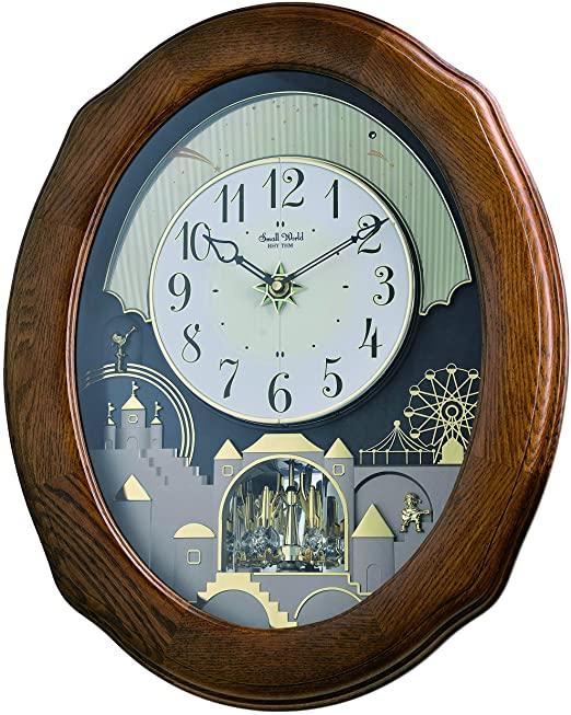 "Amazon.com: Rhythm Clocks ""Joyful Timecracker Oak"" Magic Motion ."