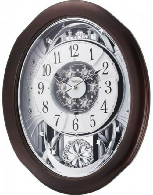 """Rhythm Clocks """"Anthology Espresso"""" Magic Motion Clock for sale ."""