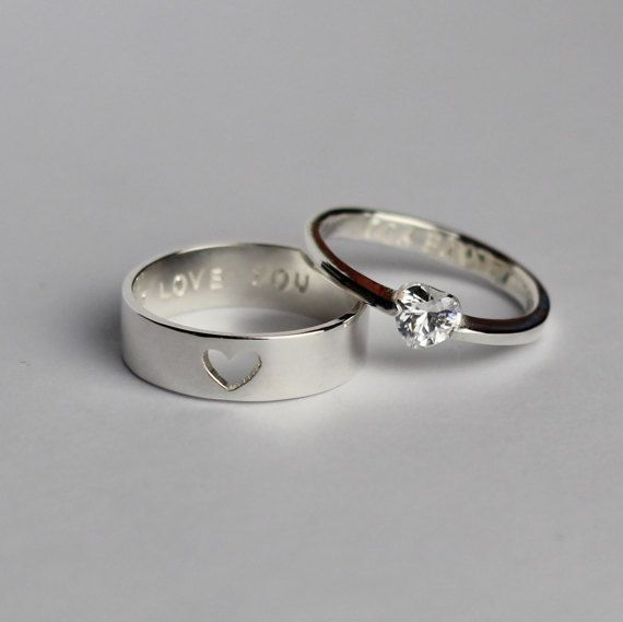 Promise Rings For Couples, His and Her Promise Rings, Couples .
