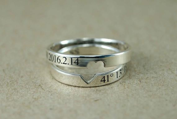 Couple Rings Couple Ring Set Promise Rings For Couples His | Et