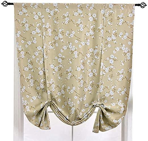 Amazon.com: ZebraSmile Various Size Pattern Roman Curtains Tie Up .