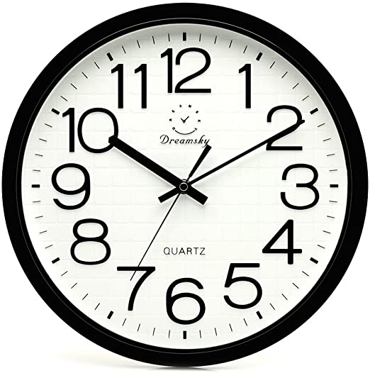 Amazon.com: DreamSky 12.5 Inches Large Wall Clock, Non-Ticking .