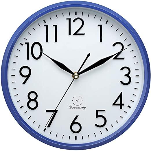 "Amazon.com: DreamSky 10"" Non Ticking Wall Clock,Decorative Indoor ."
