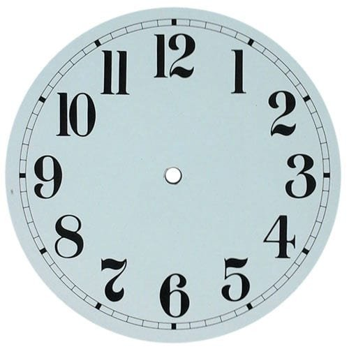 Round White Clock Dial - Arabic or Roman Numerals - Clockworks .