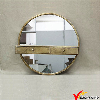 Gold Round Mirror Bedroom Wall Mounted Dressing Table Designs .