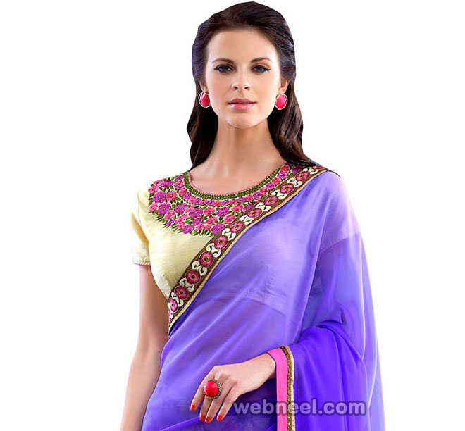 Round Neck Blouse Design By Utsav Fashion