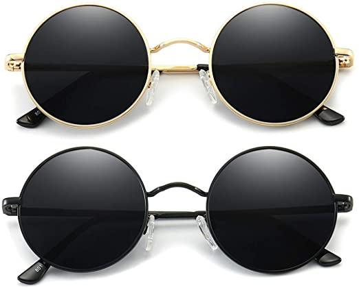 Amazon.com: Dollger Retro Circle Polarized Sunglasses for Men .