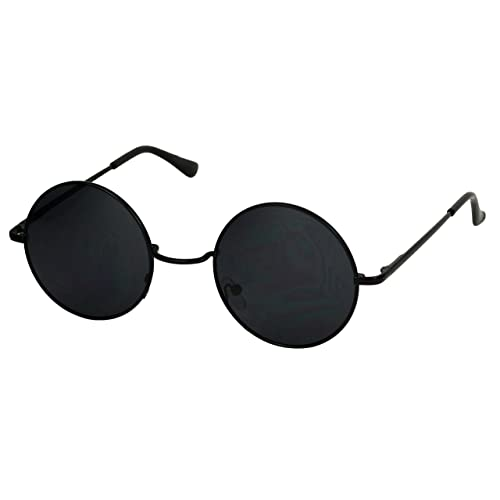 Round Black Sunglasses: Amazon.c