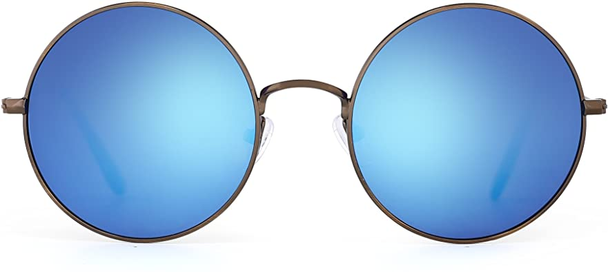 Amazon.com: JM Retro Round Sunglasses for Men Women Circle Lens .