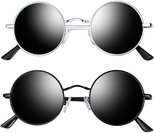 Amazon.com: Joopin Polarized Round Sunglasses for Men and Women .