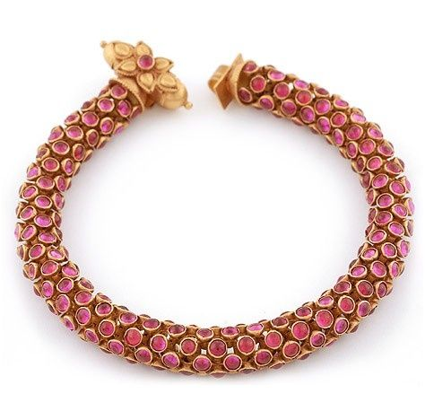 Beautiful antique ruby bracelet (With images) | Ruby bracelet .
