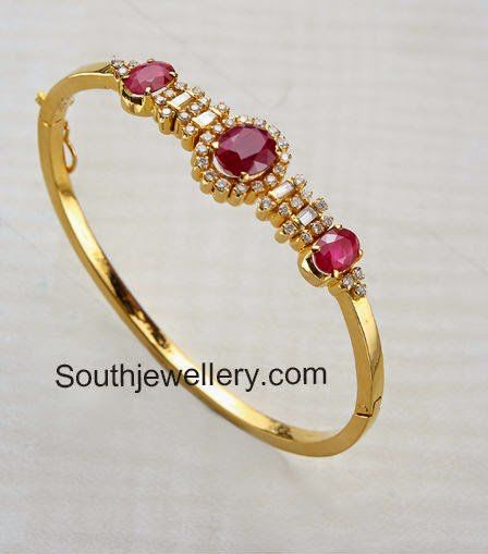 Stylish Ruby Diamond Bracelets | Gold jewelry fashion, Gold .
