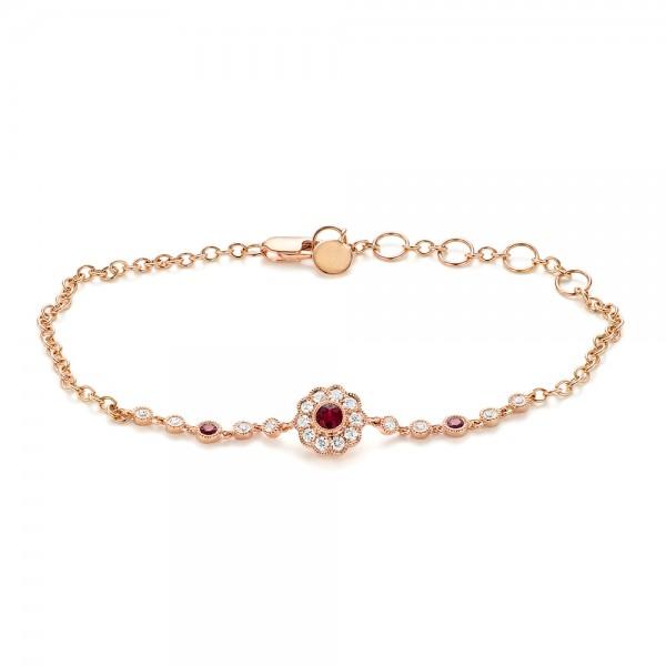 Diamond And Ruby Bracelet #103176 - Seattle Bellevue | Joseph Jewel