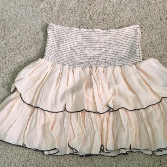 Free People Skirts | Smocked Ruffle Skirt | Poshma