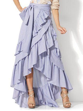 Hi-Lo Ruffle Maxi Skirt (With images) | Ruffle maxi skirt, Trendy .
