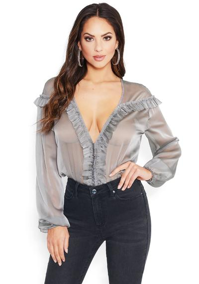 Ruffle Blouses & Tops: Ruffle Sleeve, Neck & Trim Tops | be