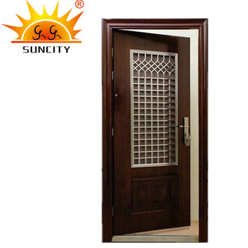 SC-S150 India hot sale steel safety door design with grill,steel .