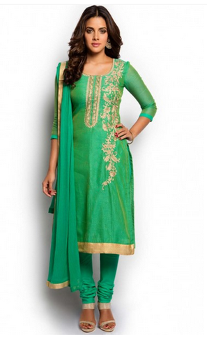Green And Gold Salwar Suit, Salwar Suit, Women Salwar Suits .