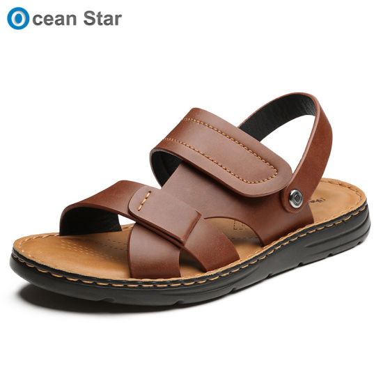New Style Men's Dual-Use Breathable Beach Shoes Cool Slippers .