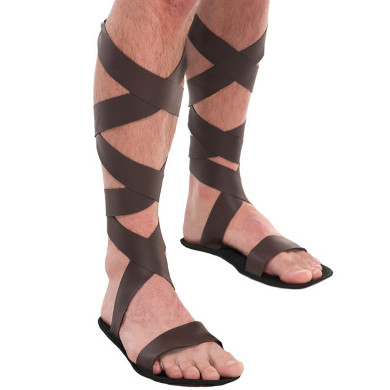 Roman Greek Gladiator Sandals Adult Men Costume Accessory, One .