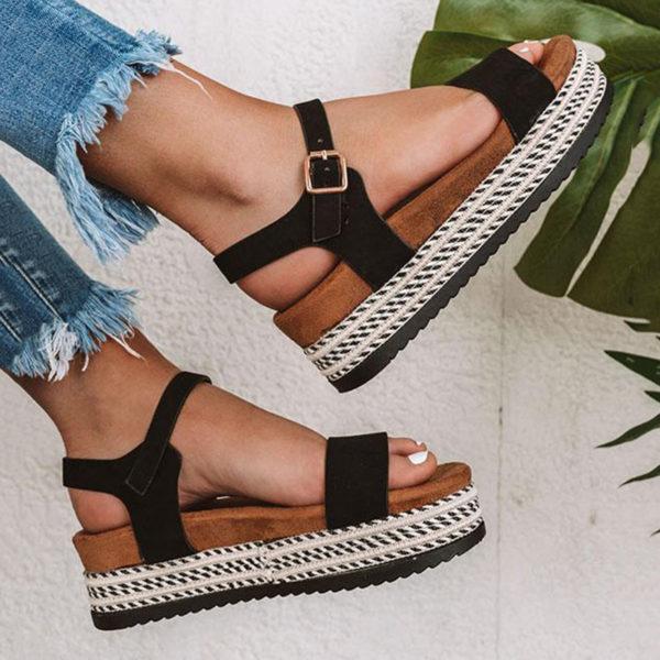 Summer Women Sandals . Woman Strap Comfort Casual .Ladies Shoes .
