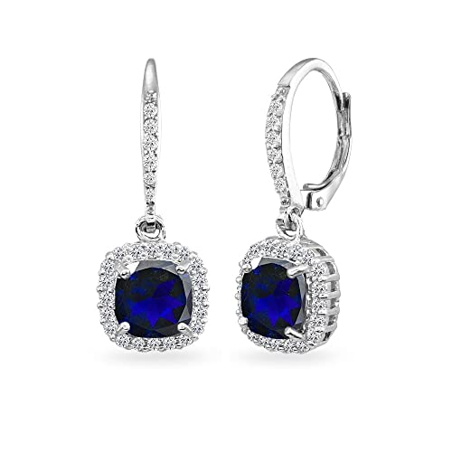 Sapphire Drop Earrings: Amazon.c