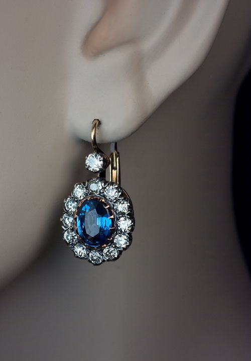 Vintage Sapphire Earrings | Vintage sapphire earrings, Beautiful .