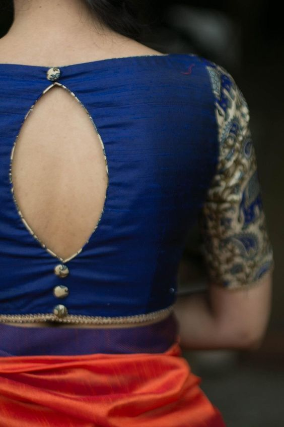 Stunning Saree Blouse Back Neck Designs | Trendy blouse designs .